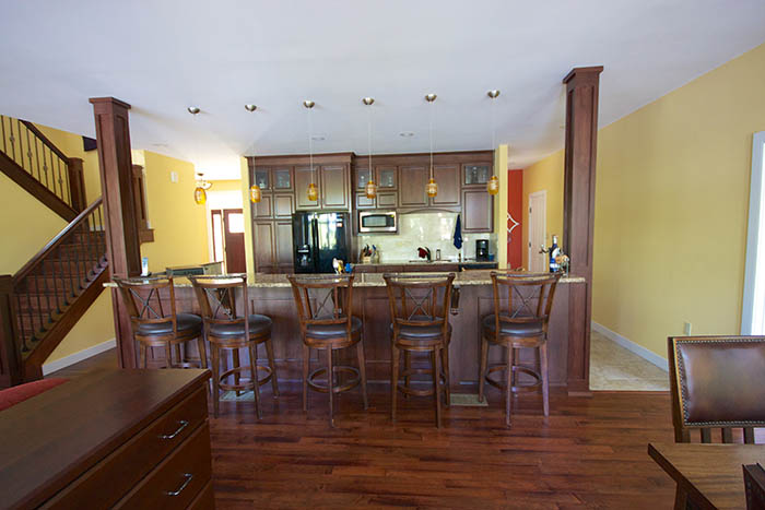 Custom Home Kitchen with Bar