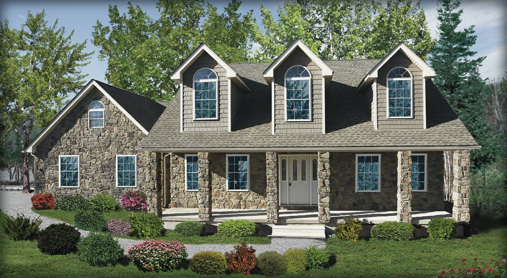 Poconos custom home designs and floor plans for Pocono home builders