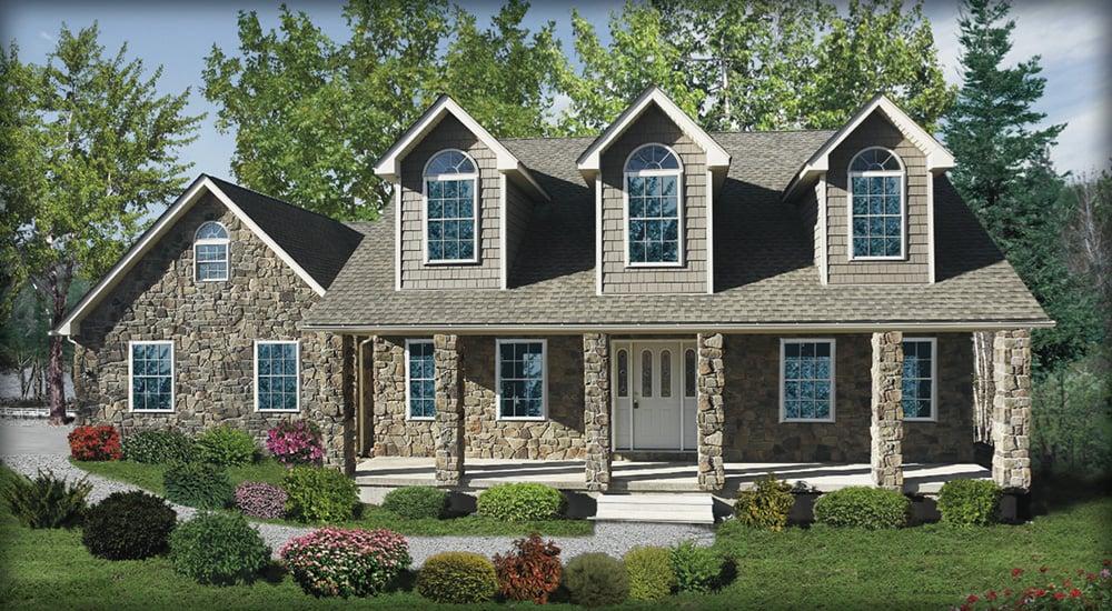Poconos custom home designs and floor plans for Pocono home builders
