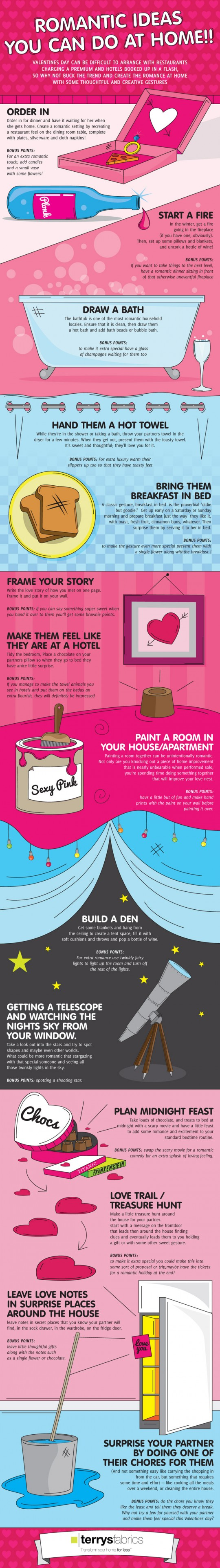 Romantic Ideas You Can Do At Home Infographic