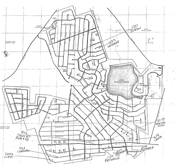 Towamensing Trails New Homes Community Map