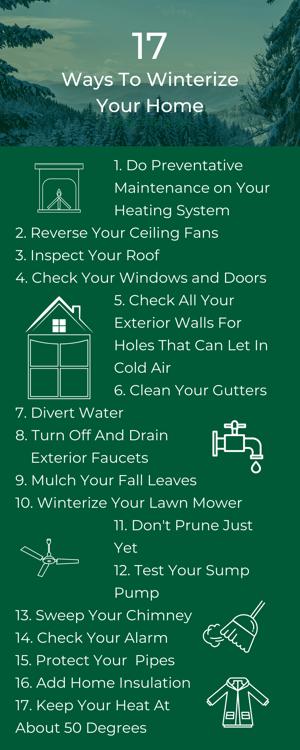 17 ways to winterize your poconos home
