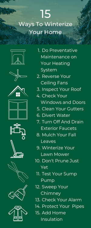 15 Ways to Winterize Your Home Infographic