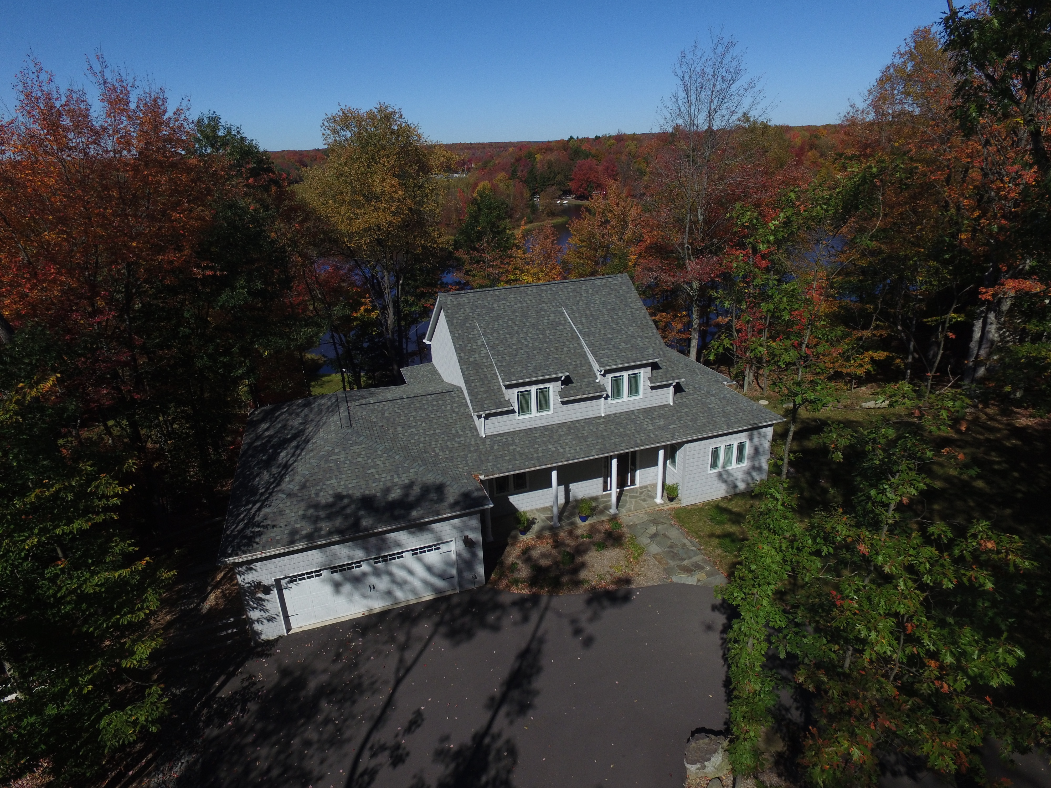 Arrowhead Lakes Home Surrounded by Fall Foliage